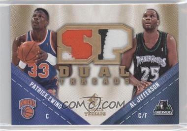 2008-09 SP Rookie Threads SP Threads Dual Patch #TD-EJ - Al Jefferson, Patrick Ewing