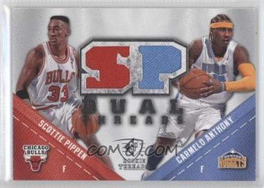 2008-09 SP Rookie Threads SP Threads Dual #TD-AP - Scottie Pippen, Carmelo Anthony