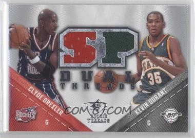 2008-09 SP Rookie Threads SP Threads Dual #TD-DD - Kevin Durant, Clyde Drexler