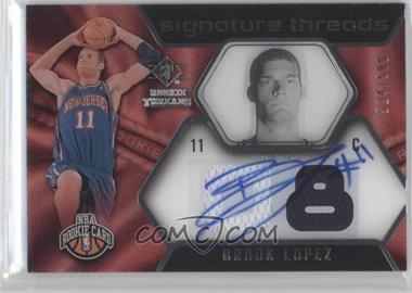 2008-09 SP Rookie Threads #71 - Brook Lopez /599