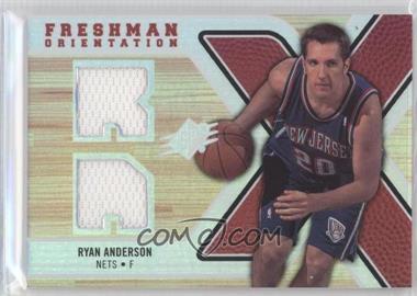 2008-09 SPx - Freshman Orientation Jerseys #FO-RA - Ryan Anderson