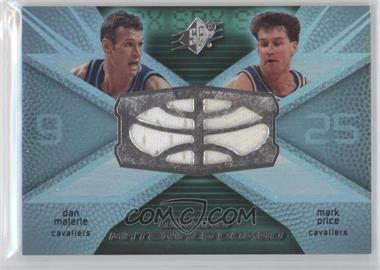 2008-09 SPx Winning Materials Combo #WMC-PM - Dan Majerle, Mark Price