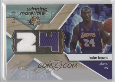 2008-09 SPx Winning Materials Jersey Number Autographs #WMJ-KB - Kobe Bryant /10