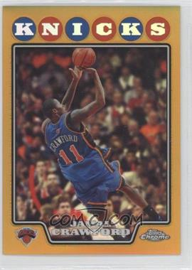 2008-09 Topps Chrome Gold Refractor #101 - Jamal Crawford /50