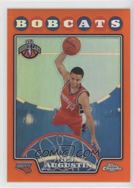 2008-09 Topps Chrome Orange Refractor #189 - D.J. Augustin /499
