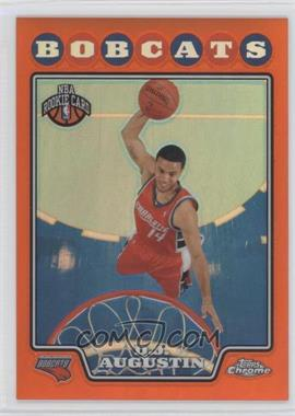 2008-09 Topps Chrome Retail [Base] Orange Refractor #189 - D.J. Augustin /499