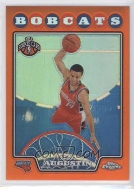 2008-09 Topps Chrome Retail Orange Refractor #189 - D.J. Augustin /499