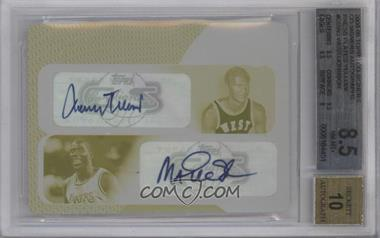 2008-09 Topps Co-Signers - Dual Autographs - Printing Plate Yellow #CS-WJ - Jerry West, Magic Johnson /1 [BGS8.5]