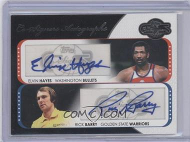 2008-09 Topps Co-Signers Dual Autographs #CS-HB - Elvin Hayes, Rick Barry /240