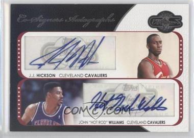 2008-09 Topps Co-Signers Dual Autographs #CS-HWS - J.J. Hickson, Hot Rod Williams /240
