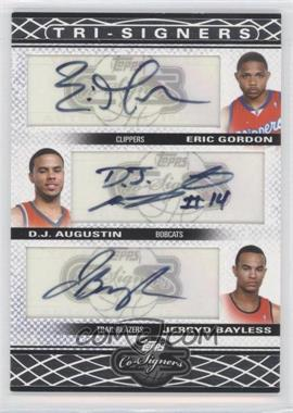 2008-09 Topps Co-Signers Tri-Signers Autographs #TS-GAB - Eric Gordon, D.J. Augustin, Jerryd Bayless /36