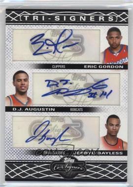 2008-09 Topps Co-Signers Tri-Signers Autographs #TS-GAB - Eric Gordon, D.J. Augustin, Jerryd Bayless /36
