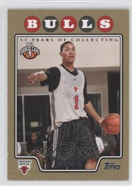 2008-09 Topps Gold Border 51 Years of Collecting #196 - Derrick Rose /2008