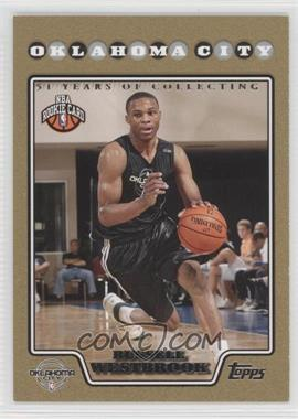 2008-09 Topps Gold Border 51 Years of Collecting #199 - Russell Westbrook /2008
