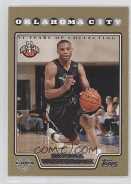 2008-09 Topps Gold Border #199 - Russell Westbrook /2008