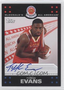 2008-09 Topps McDonald's All-American - Autographs #TE - Tyreke Evans