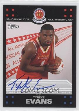 2008-09 Topps McDonald's All-American Autographs #TE - Tyreke Evans