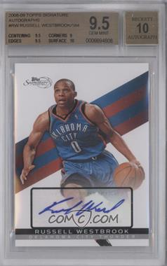 2008-09 Topps Signature Autograph [Autographed] #TSA-RW - Russell Westbrook /184 [BGS 9.5]