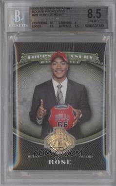 2008-09 Topps Treasury 14K Gold Rookie Medallions #14K-DR - Derrick Rose /19 [BGS 8.5]