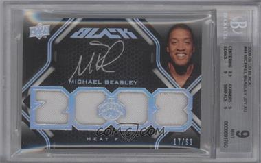 2008-09 UD Black - [Base] #44 - Michael Beasley /99 [BGS9]