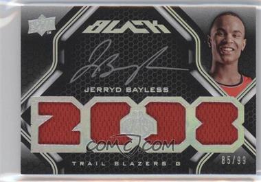 2008-09 UD Black - [Base] #52 - Jerryd Bayless /99