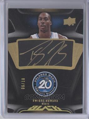 2008-09 UD Black - Commemorative Logo Autographs - Gold [Autographed] #C-DH - Dwight Howard /10