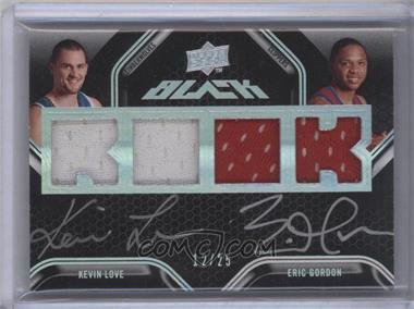 2008-09 UD Black - Dual Rookie Autographs - Jerseys [Autographed] #DR-GL - Kevin Love, Eric Gordon /25