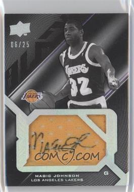 2008-09 UD Black - Signed Jersey Pieces Legend #SPL-JO - Magic Johnson /25