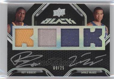 2008-09 UD Black Dual Rookie Autographs Jerseys [Autographed] #DR-HM - Roy Hibbert, JaVale McGee /25