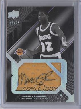 2008-09 UD Black Signed Jersey Pieces Legend #SPL-JO - Magic Johnson /25