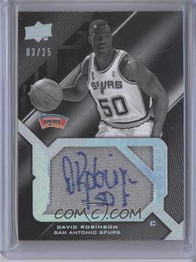 2008-09 UD Black Signed Jersey Pieces Legends [Autographed] #SPL-DR - David Robinson /25