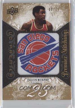 2008-09 UD Premier - Premier Stitchings - Level 2 #PS-CM - Calvin Murphy /25