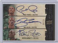 Kevin Garnett, Ray Allen, Paul Pierce /15