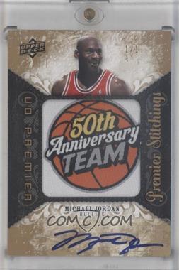 2008-09 UD Premier Premier Stitchings Level 2 Autograph [Autographed] #PSJO - Michael Jordan /1
