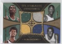 Willis Reed, Robert Parish, Kareem Abdul-Jabbar, Bill Russell /35
