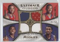 Eric Gordon, DeAndre Jordan, Jason Thompson, Donte Greene /50