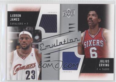 2008-09 Upper Deck Emulation Dual Memorabilia #E-EJ - Lebron James, Julius Erving