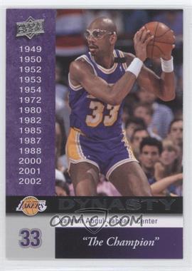 2008-09 Upper Deck Los Angeles Lakers Dynasty #LAL-16 - Kareem Abdul-Jabbar