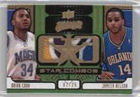 Brian Cook, Jameer Nelson #/25
