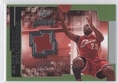2008-09 Upper Deck MVP Game Night Souvenirs #GN-LJ - Lebron James