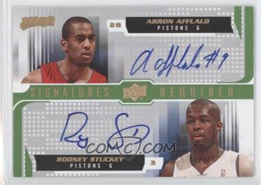 2008-09 Upper Deck MVP Signatures Required #SR-AS - Arron Afflalo, Rodney Stuckey