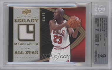 2008-09 Upper Deck Michael Jordan Legacy Multi-Product Insert Memorabilia #MJ-78 - Michael Jordan /23 [BGS9]