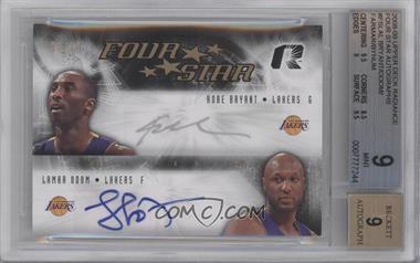 2008-09 Upper Deck Radiance - Four Star - [Autographed] #FS-LAL - Kobe Bryant, Lamar Odom, Andrew Bynum, Jordan Farmar /10 [BGS9]