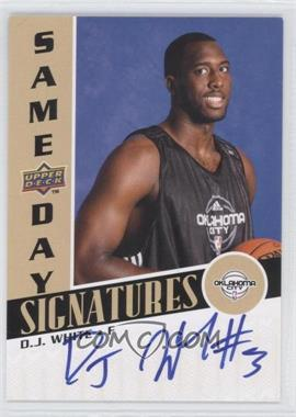 2008-09 Upper Deck Rookie Photo Shoot Same Day Signatures #RPS-DW - D.J. White