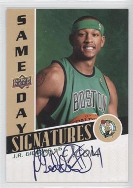 2008-09 Upper Deck Rookie Photo Shoot Same Day Signatures #RPS-JG - J.R. Giddens