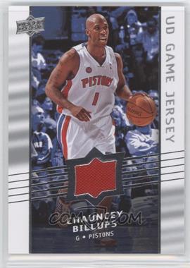 2008-09 Upper Deck UD Game Jersey #GA-BI - Chauncey Billups