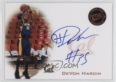 2008 Press Pass - Press Pass Signings - Bronze #PPS-DH - DeVon Hardin