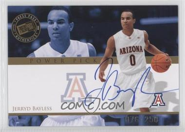 2008 Press Pass Power Pick Autographs #PP-JB - Jerryd Bayless /250