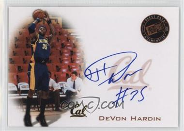 2008 Press Pass Press Pass Signings Bronze #PPS-DH - DeVon Hardin