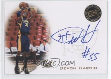 2008 Press Pass Press Pass Signings Gold #PPS-DH - DeVon Hardin /99